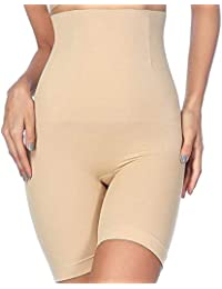 de9dabf413b57 AIMILIA Women s Hi-Waist Body Shaper Butt Lifter Shapewear Tummy Control  Trainer Panties Thigh Slimmer