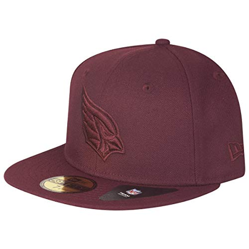 Brim Fitted Cap (New Era 59Fifty Poly Tone Cardinals Cap Basecap Baseballcap Flat Brim Fitted NFL-Cap (7 1/4 (57,7 cm) - Bordeaux))