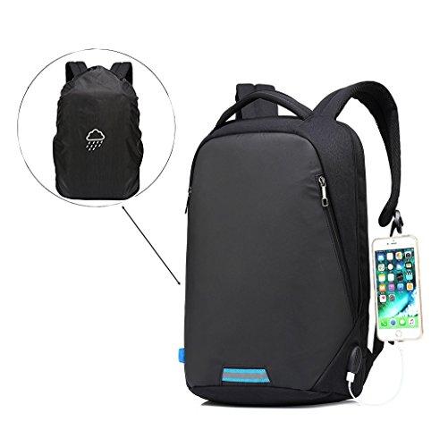 Sac à dos pour ordinateur portable 15.6 Pouces/GENOLD Sac à dos Antivol avec Port de USB Collège Sac de voyage imperméable pour hommes et femmes,Loisi...