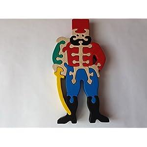 Handgemachtes historisches Kämpferspielzeuggeschenk des hölzernen Puzzlespiels für hölzernen Buchenholzspielzeug…