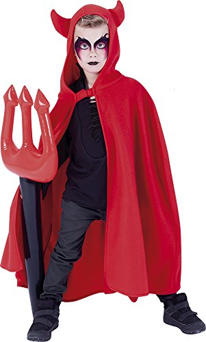 Rubies S5206 - Capa Diablo con Tridente Hinchable, talla única, Rojo