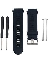 Bemodst® Garmin banda reloj de pulsera de silicona de repuesto para Garmin Forerunner 920X T, suave correa de silicona con tornillo de Original y desmontaje herramienta, color negro, tamaño 21.6cm * 3.1cm