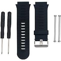 Bemodst® Garmin banda reloj de pulsera de silicona de repuesto para Garmin Forerunner 920X T, suave correa de silicona con tornillo de Original y desmontaje herramienta, negro