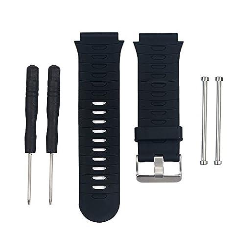 WEINISITE Silicone Bracelet de Remplacement pour Garmin Forerunner 920XT (Noir, Unique taille)