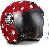 "Soxon® SP-888 ""Bubble"" · Jet-Helm · Motorrad-Helm Roller-Helm Scooter-Helm Bobber · ECE Sonnenvisier Schnellverschluss SlimShell Tasche S (55-56cm)"