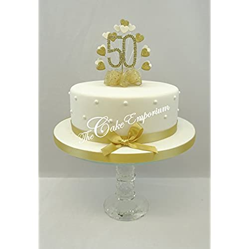 golden wedding cakes decorations 50th anniversary cake decorations co uk 14767