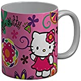 FunkyTradition Hello Kitty Pink Cartoon Ceramic Coffee Mug For Friends Forever For Kids/Birthday Gift/Return Gift/Gifts/Coffee Mug/Ceramic Mug