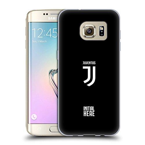 Head Case Designs Personalisierte Individuelle Juventus Football Club Einfacher Kamm Soft Gel Huelle kompatibel mit Samsung Galaxy S7 Edge