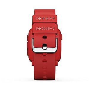 "Pebble Time - Smartwatch (pantalla 1.25"", Bluetooth, ARM Cortex-M3), color rojo"