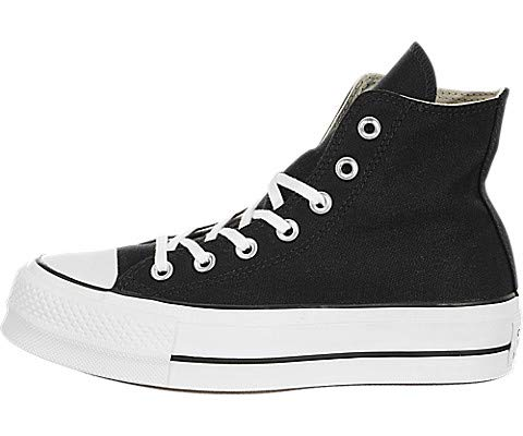 Converse Damen CTAS Lift HI Black White Sneakers, Schwarz 001, 37.5 EU -