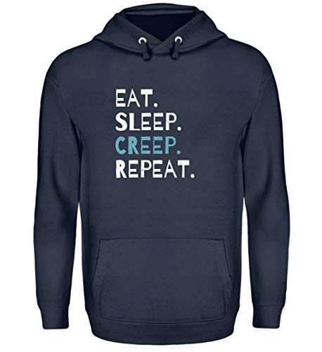 Eat Sleep Creep Repeat - An Halloween Das Wahre Gruselige schreckliche Ich Zeigen - Unisex Kapuzenpullover Hoodie