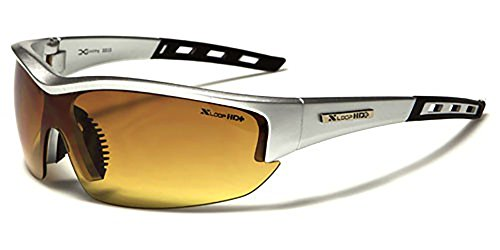 X-Loop Specialist Sport & Ski Sunglasses - UV400 Protection - Running / Cycling / Skiing / Snowboarding - Unisex Sport Sunglasses (Driving Silver)