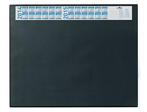 Durable 720401 Schreibunterlage (mit Vollsichtplatte und Kalender, 650 x 520 mm) 1 Stück, schwarz