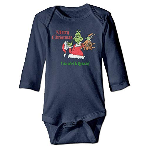 dsfsa Babybekleidung Dr Seuss How The Grinch Stole Christmas Original for Climbing Clothes Infant Rompers Navy