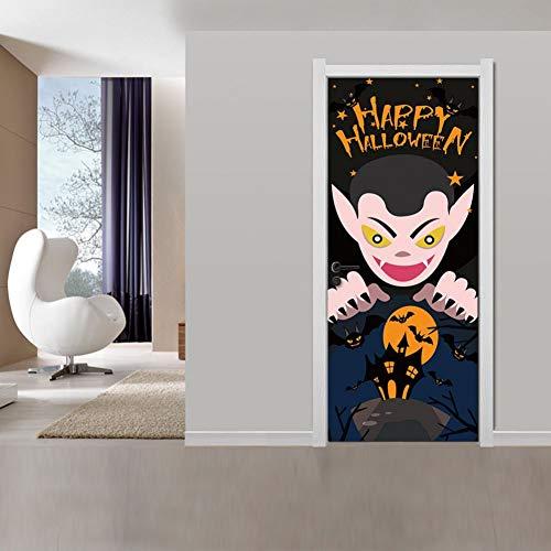 VIOYO Etiqueta de la pared de Halloween Decoración de la casa embrujada Etiqueta de la cubierta de la puerta de la ventana Mano del zombi 78X30 pulgadas Adorno de Navidad Etiqueta de la pared