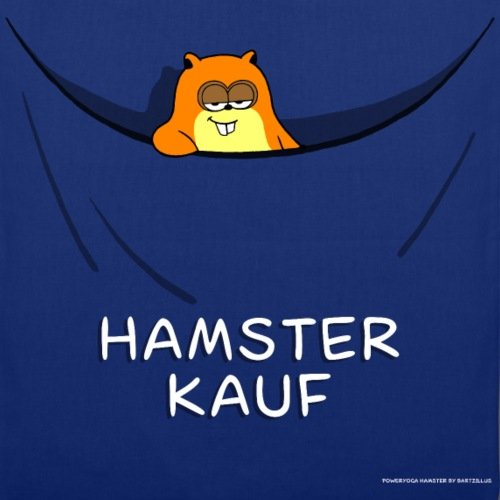 Spreadshirt Hamsterkauf Stoffbeutel Royalblau