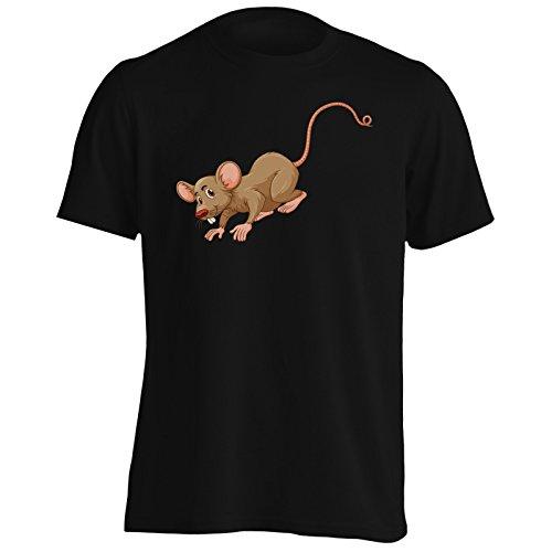 Cute mouse marrone carino divertente Uomo T-shirt g817m Black