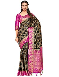 e2d0e382d Mimosa Art Patola Wedding Sik saree Kanjivarm Style With Contrast Blouse  Color  Black (4280