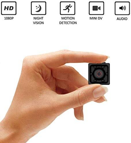 Mini Kamera Spycam Full HD 1080p ZIMAX | Überwachungskamera Nanny Cam mit Bewegungserkennung und Infrarot Nachtsicht | Die kompakteste Versteckte Kameras für Innen und Aussen