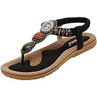 Minetom Donne Ragazze Estate Sandali Boemia strass decorazione scarpe