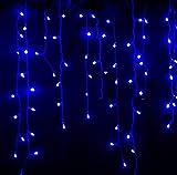 Blumfeldt Dreamhouse Außen Lichterkette LED-Weihnachtsbeleuchtung für Haus und Garten (3m, 100 LEDs, Eiszapfen-Design) (blau)