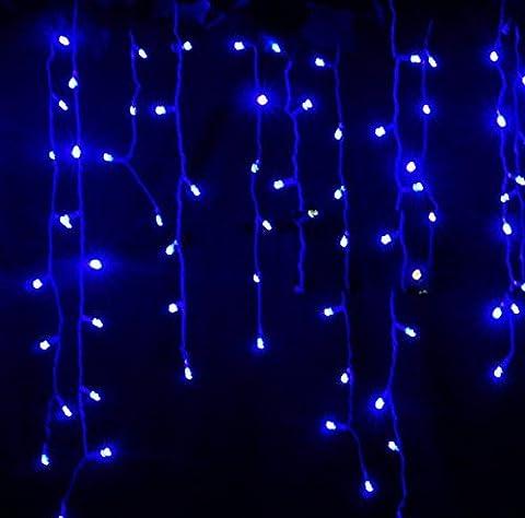 LED Lichterkette Weihnachtsbaum Vorhang Party Festen Pavillon Hotel Hochzeiten INNEN Für Haus und Garten (3.5m, 100 LEDs, Eiszapfen-Design)