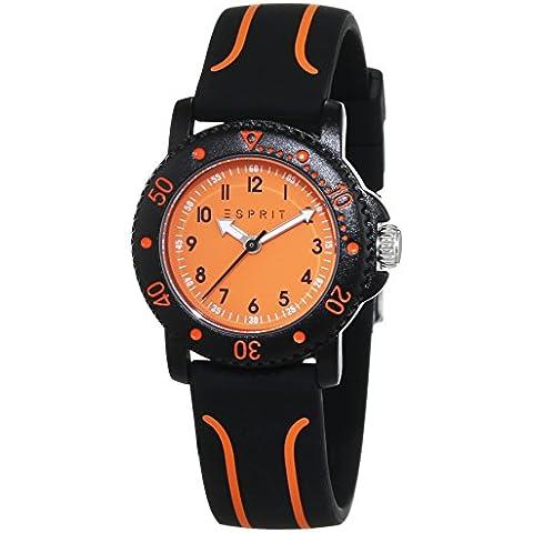 ESPRIT Diving Club Reloj unisex de cuarzo con Negro esfera analógica pantalla y dorado plástico ES108334004