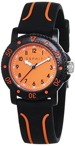 Esprit Unisex-Child Quartz Watch, Analogue Classic Display and Silicone Strap ES108334004