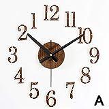 Neue Ankunft Zurück In Der Zeit Quarzuhren Mode Uhren 3D Echte Große Wanduhr Niet Spiegel Aufkleber DIY Wohnzimmer Dekor A 37 Zoll