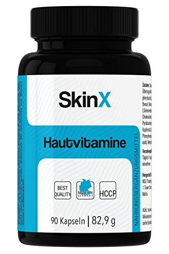 SkinX Haut-Vitamine - Zink, Biotin, Selen, Vitamin A/B2, hochdosiert, vegan, bio - bioverfügbar