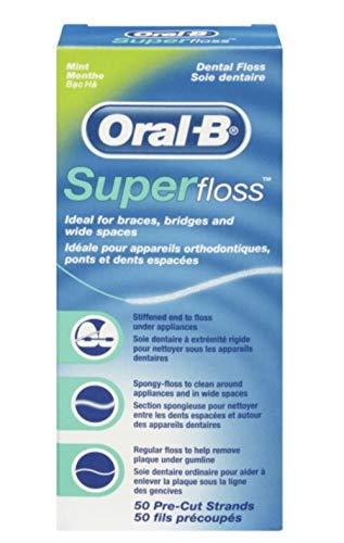 Oral B 50pezzi pre-tagliati super Floss-Confezione da 3