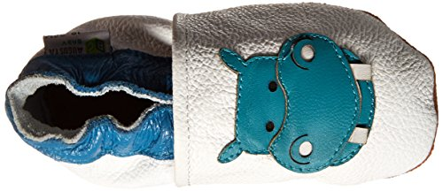 AUGUSTA BABY Baby Boys Girls First Walker Soft Sole Leather Baby Shoes - Genuine Leather Hippo