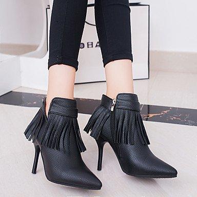 Moda Donna Sandali Sexy donna tacchi autunno / inverno Altri matrimonio cuoio / Party & sera abito / Stiletto Heel fiocco nero / rosso altri Black