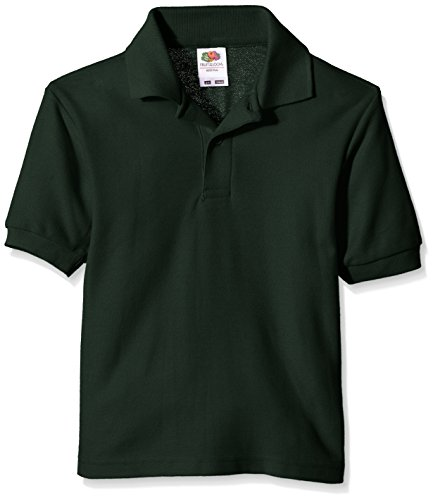 Fruit of the Loom Jungen T-Shirt Pique Polo Green (Bottle Green)