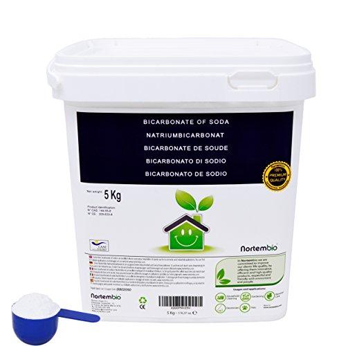 NortemBio Bicarbonato de Sodio 5 Kg; 6 Kg; 2x6Kg, Insumo Ecológico de Origen Natural, Libre de Aluminio, Producto CE.