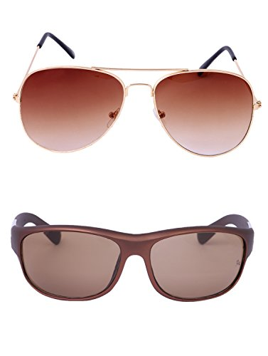 Amour-propre AmourPropre Multicolor UV Protected Unisex sunglasses Pack of 2_(AM_CMB_LP_3146)