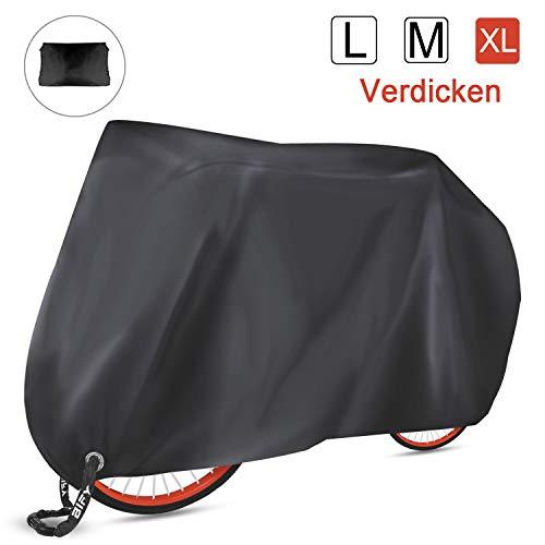 BIFY Fahrradabdeckung,200 x 70 x 110 cm wasserdicht 210T hochwertige Fahrrad- / Motorradabdeckung,Sonnenschutz und Regen (Verdicken XL)