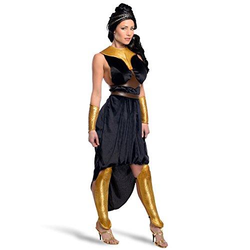 300 - Gorgo Queen Kostüm Damen Kleid 4tlg. mit geformten Bein- und Armschienen lizenziertes Film Kostüm - (Kostüm Armschienen)