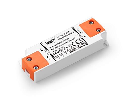 LIGHTEU 24V 20W LED Treiber/LED Trafo super slim,20W, 24 V DC, 0.84 A - Konstantspannung für LED-Streifen und G4, MR11, MR16 LED-Glühbirnen (Dc-led-treiber)