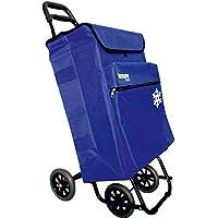 Bastilipo Julia 7104 Carro de la Compra de 4 50 litros con Bolsa térmica y Ruedas Plegables-Azul eléctrico, Normal