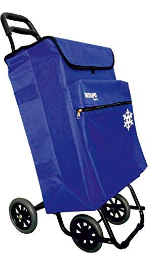 Bastilipo Julia 7104 Einkaufstrolley 4 50 Liter mit Thermotasche und klappbaren Rädern, elektrisches Blau, Normal