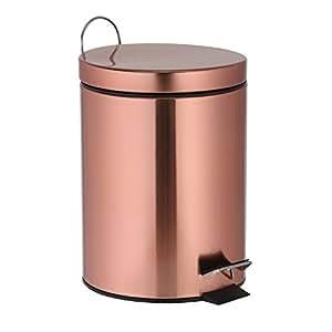 Treteimer 3 Liter Kupfer Mülleimer als Abfalleimer