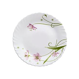 Dajar Selma 19cm dessert plate Arcopal, White Glass, Pink, Green, 19x 19x 2cm