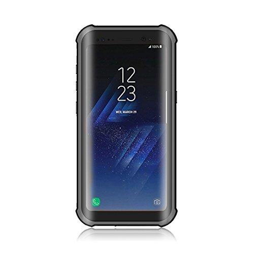 Preisvergleich Produktbild KISSION Wasserdichter Phone Hülle,  Ganzkörper-stoßfest Dirtproof Case für Samsung Galaxy S8 und Galaxy S8 plus