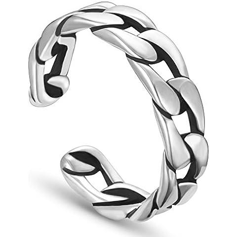 Sweetiee anillos mujer 925 plata de ley, cadena, plata, 18mm