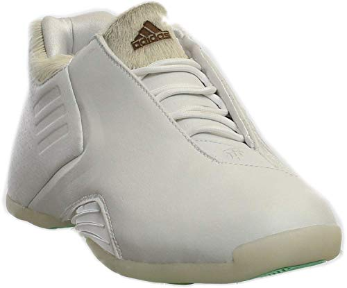 adidas Men's T-Mac 3 Basketball Running White/Running White/Greenglo 10.5 D(M) US