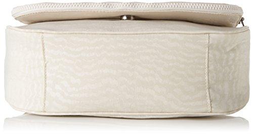 Kipling Damen Earthbeat M Umhängetasche, 30x22.5x10.5 cm Weiß (White Garden)