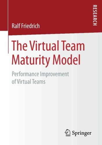 The Virtual Team Maturity Model: Performance Improvement of Virtual Teams