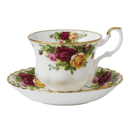 Royal Albert Old Country Roses Teetasse und Untertasse Set, bunt Old Country Roses