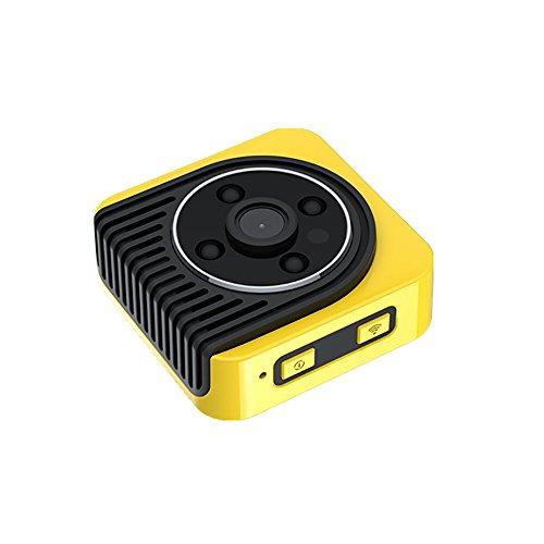 Camcorder Kit Bag (SIXCUP Mini DV Camera Camcorder IR Nachtsicht Wearable Full HD Auto Sport DV Kamera Video Recorder Infrarot Auto DVR Kamera Bewegungserkennung (Gelb))
